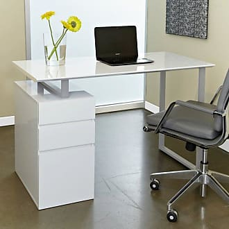 Unique Furniture Tribeca Study Desk with Drawers - 220-WHITE