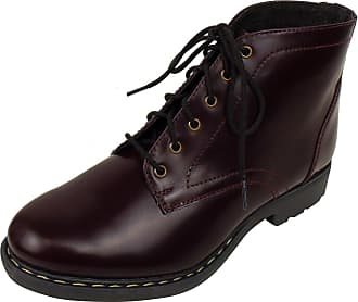 Office Womens Dilly Dally Ankle Boots Ladies Combat Patent Leather Shoes Boot 3