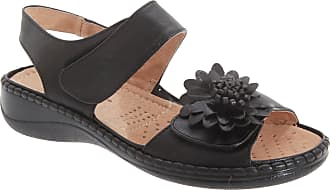Boulevard Womens/Ladies Twin Touch Fastening Halter Back Sandals (7 UK) (Black)