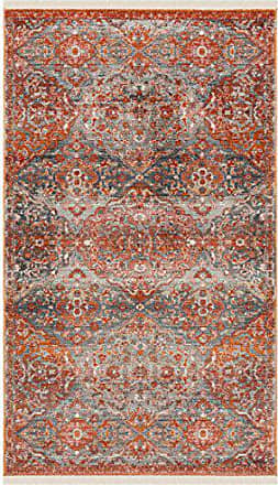 Safavieh VTP470J-3 Vintage Persian Collection Aqua and Orange Polyester Area Rug, 3 x 5