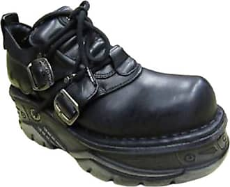 New Rock Newrock 994 Turbo Black Leather Mens Shoes Booties[Mens UK 10 / EU 44]