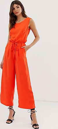 Vila drawstring waist jumpsuit-Red