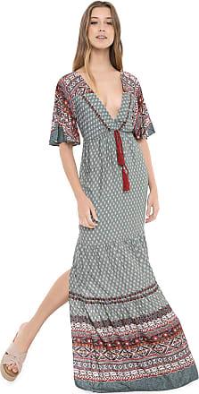 Dress To Vestido Dress to Longo Estampado Verde/Vinho