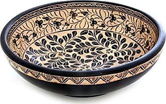 Novica Harvest in Java Wood Batik Centerpiece