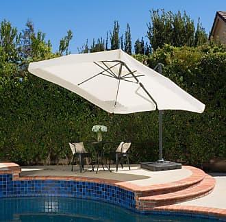 BEST SELLING HOME Outdoor Merida 10 ft. Beige Cantilever Off-Set Patio Umbrella - 296127