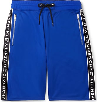 Givenchy Logo-jacquard Tech-jersey Drawstring Shorts - Blue