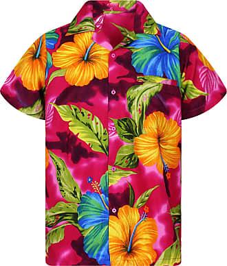V.H.O. Funky Hawaiian Shirt, Big Flower, Pink, 11XL