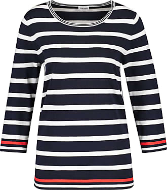 Gerry Weber Womens 97517-35711 Pullover Sweater, Multicolor (Dark Navy/Off-White 8100), (Herstellergröße: 40)