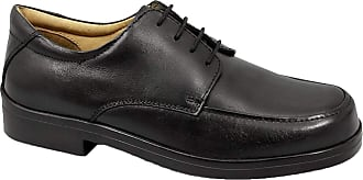 Roamers Mens Black Leather Extra Wide Fitting Lace Up Shoe - Black - size UK Mens Size 12