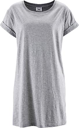 90bc1c1a0749ef Bonprix Boxy-Longshirt mit kurzen Ärmeln kurzer Arm in grau von bonprix