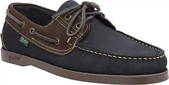 Paraboot Chaussures bateaux PARABOOT Barth velours Homme Marine + Marron 61f74aeea896