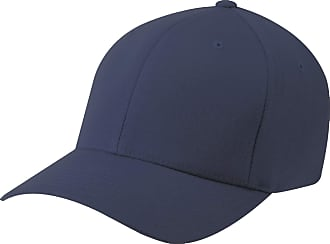 Yupoong Mens Flexfit Fitted Baseball Cap (Pack of 2) (LXL) (Navy)