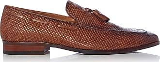 Dune London Dune Mens Simons Woven Tassel Loafer Size UK 10 Tan Flat Heel Loafers