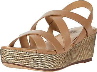 Naturalizer womens Unique Wedge Sandals Brown Size: 8.5 Wide