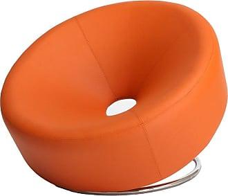 BEST SELLING HOME Orange Modern Round Chair - 258635