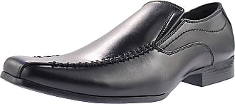 US Brass Mens Black Twin Gusset Casual Shoe - Raven - Black - size UK Mens Size 12