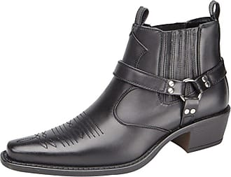 US Brass US Brass Mens Boots black, Black, 12 UK