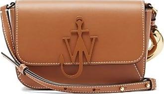 J.W.Anderson Anchor-logo Chain Leather Cross-body Bag - Womens - Tan