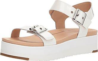 UGG Womens Angie Wedge Sandal, White, 9 M US