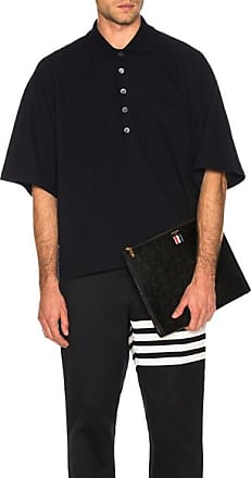 Thom Browne Oversized Pocket Polo in Blue