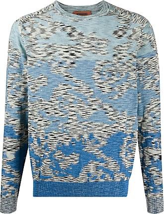 Missoni Suéter com padronagem abstrata de tricô - Azul