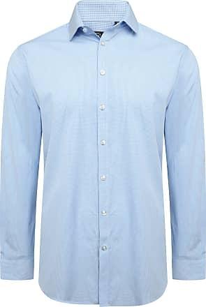 Original Penguin Cotton Blue Mirco Check Shirt 17.5