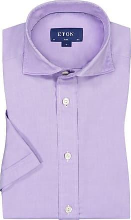 Eton Oberhemd, kurzarm von Eton in Flieder für Herren