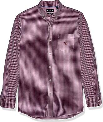 Mens Business Shirt CHAPS Cotton Rich Easycare Long Sleeve