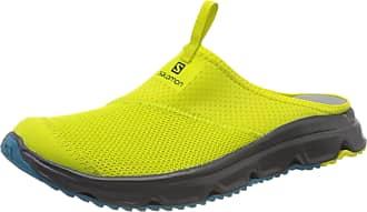 Salomon Mens Rx Slide 4.0 Recovery Clogs, Yellow (Evening Primrose/Ebony/Fjord Blue Yellow), 9.5 UK