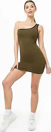 Forever 21 Forever 21 One-Shoulder Bodycon Dress Olive