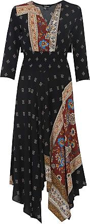 Desigual Vestido Desigual Midi Assimétrico Preto
