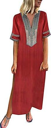 d086d8b2fe4fd3 ORANDESIGNE Damen Maxikleid Langes Elegantes Kleid Strandkleider Türkischer  Stil Boho Strandponcho Lose Maxi Kimono Kaftan Tunika