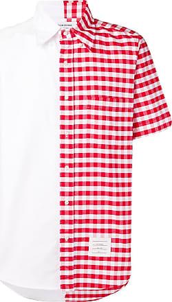Thom Browne Bicolor Gingham Oxford Shirt - White