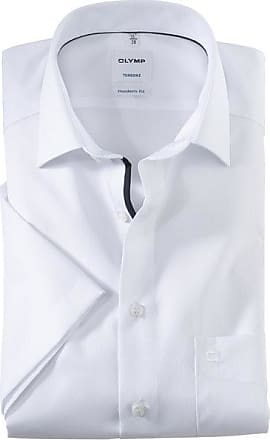 Olymp Tendenz Kurzarmhemd, modern fit, New Kent, Weiß, 40