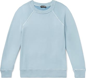 Tom Ford Garment-dyed Loopback Cotton-jersey Sweatshirt - Blue