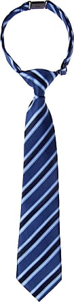 Retreez Preppy Stripe Pattern Woven Microfiber Pre-tied Boys Tie - Blue - 24 months - 4 years