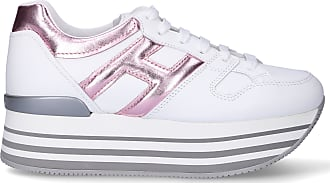 Hogan Low-Top Sneakers H283 HOGAN MAXI calfskin Logo pale pink white