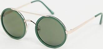 Jeepers Peepers Occhiali da sole verdi rotondi-Verde