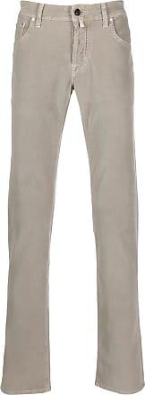 Jacob Cohen Stone grey stretch micro corduroy trousers