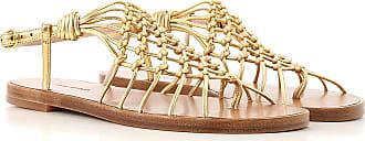 Stuart Weitzman Sandals for Women On Sale, Gold, Leather, 2017, US 7.5 (EU 38) US 6.5 (EU 37) US 5.5 (EU 36)