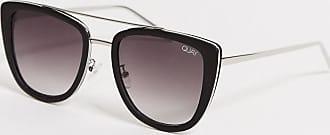 Quay Quay - Oversize-Sonnenbrille in Schwarz/Rauch