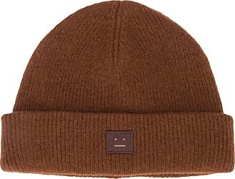 Acne Studios face patch beanie - Brown