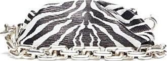 Bottega Veneta The Pouch Zebra-print Leather Shoulder Bag - Womens - Black White