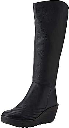 Yip, Botas cuña Mujer, (Black 000)