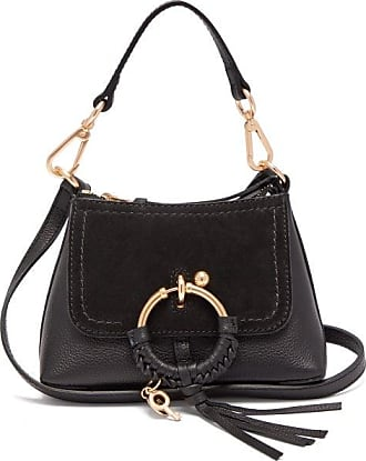 See By Chloé Joan Mini Leather And Suede Cross-body Bag - Womens - Black