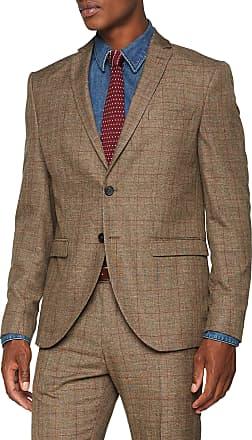 Selected Homme Mens Slhslim-mylologan BLZ B Noos Blazer, Multicolour (Major Brown Checks: Red), 36R (Size: 46)