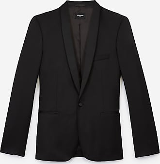 The Kooples Black formal wool jacket with satin lapels - MEN