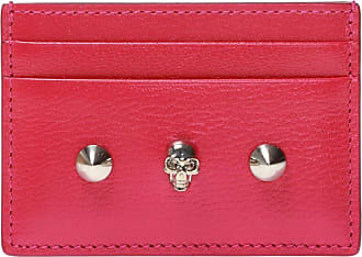 Alexander McQueen Studded Card Case Womens Pink