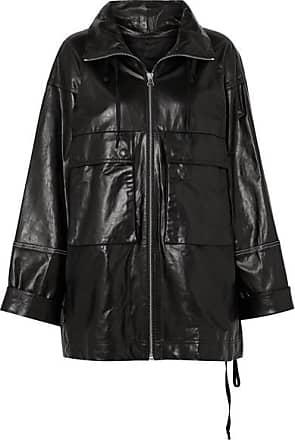 Helmut Lang Zip-embellished Leather Jacket - Black