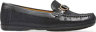 Van Dal Womens Bliss Leather Loafers - Black Print, Size 37 EU